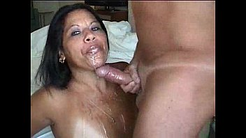 CUM ON FACE after SLOW BLOWJOB excites her so much to MAKE HER SQUIRT!