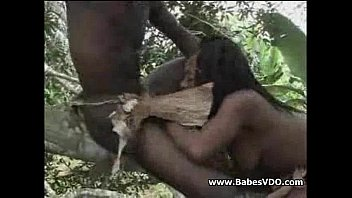 mexican couple caught fucking behind a tree