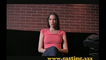 Interview with a Fresh Face Fashion Model turns into Hard Sex Huge Cumshot