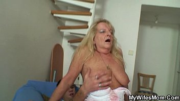 White Granny sucking the fuck out of that Black Dick