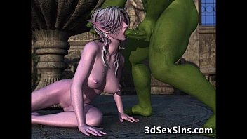 Hottest Horny Elf Girl Fuck in All Position with Two Guys Multiple Squirt in Public Park - 3D Hentai